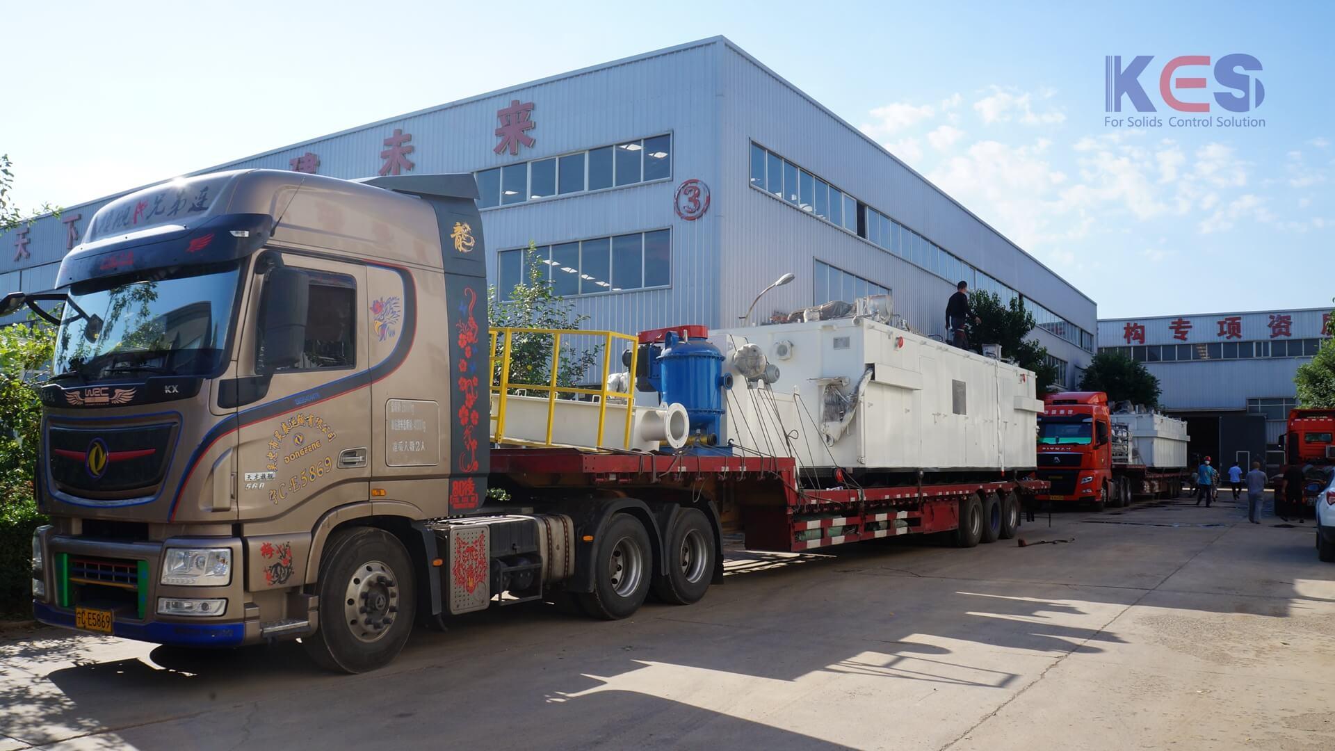 科盛能源又一套zj70泥浆固控系统发货